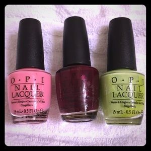 OPI nail polish lot of 3